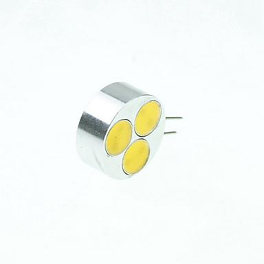 3W G4 LED Spot Işıkları MR11 3 COB 220-280 lm Sıcak Beyaz / Serin Beyaz / Doğal Beyaz Kısılabilir DC 12 / AC 12 V 4 parça