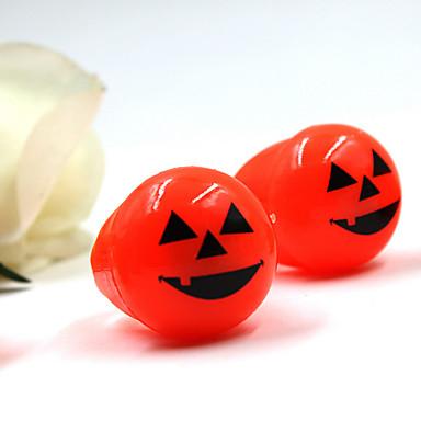 1pcs Halloween weichen Spielzeug Ring Augen und Kürbislichter Ring leuchtende Fingerring (zufällige Farbe)