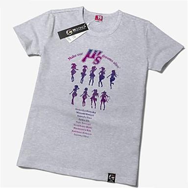 קיבל השראה מ אוהב את חיים Niko Yazawa אנימה תחפושות קוספליי Cosplay חולצת טריקו דפוס שרוולים קצרים טי שירט עבור יוניסקס