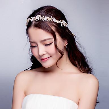 נשים ריינסטון סגסוגת דמוי פנינה כיסוי ראש-חתונה אירוע מיוחד סרטי ראש חלק 1
