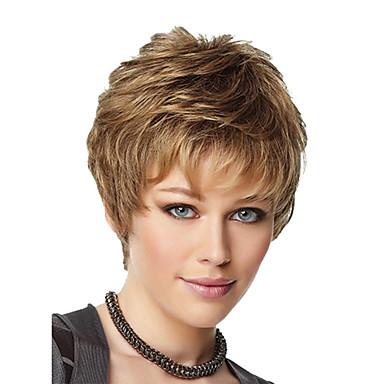 Damen Synthetische Perücken Blondine Bubikopf Mit Pony Kostümperücke