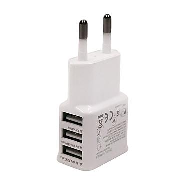 Οικιακός φορτιστής / Φορητός φορτιστής Φορτιστής USB τηλεφώνου Ευρωπαϊκή Πρίζα Πολλαπλές θύρες 3 θύρες USB