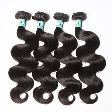 Doğal siyah vücut dalga brezilyalı İnsan saç saç uzantıları #kgdaily vücut dalga yumuşak örgüleri