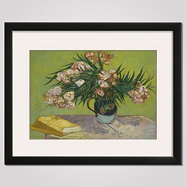 Blumenmuster/Botanisch Stillleben Berühmte Landschaft Freizeit Gerahmte Printkunst Gerahmtes Leinenbild Wandkunst,PVC Stoff Mit Feld For