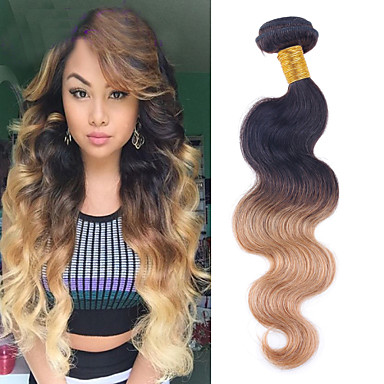 Brazilian Hair Wavy Human Hair Weaves 1 Piece 0.11