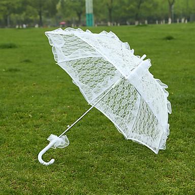 Casamento Renda Guarda-chuva 29.5polegadas (Aprox.75cm) Metal 28.4polegadas (Aprox.72cm)