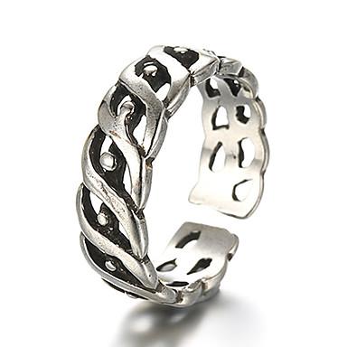 Gyűrűk Régies (Vintage) / Punk stílus Napi / Hétköznapi Ékszerek Ezüst Karikagyűrűk 1db,Állítható Ezüst