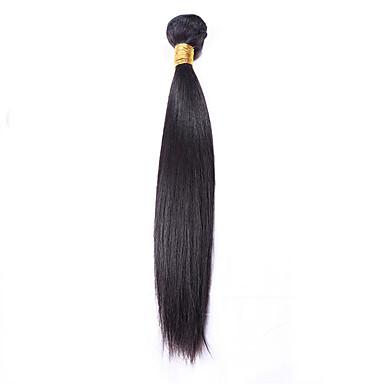 baratos Extensões de Cabelo Natural-1 pacote Cabelo Brasileiro Liso Cabelo Virgem Cabelo Humano Ondulado 8-26 polegada Tramas de cabelo humano Extensões de cabelo humano / Reto