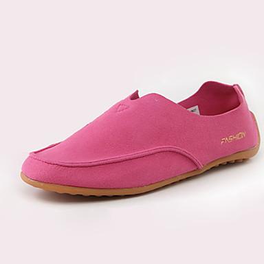 Kényelmes-Lapos-Női cipő-Mokaszinek-Alkalmi-Gyapjú-Kék / Zöld / Rózsaszín / Piros