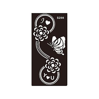 -Tatuagem com AirBrush-não tóxica Estampado Purpurina Pistolas de Airbrush Lombar hena