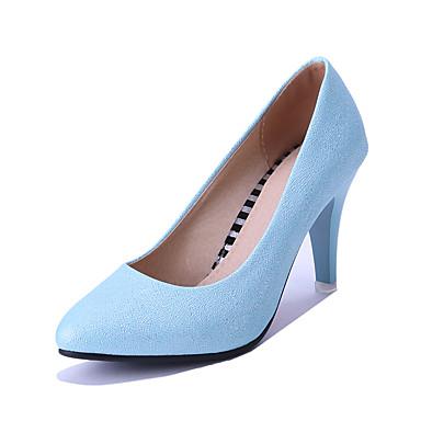 FemininoBico Fino-Salto Cone-Azul / Rosa / Prateado-Courino-Casamento / Social / Festas & Noite
