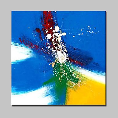 Peinture à l'huile Hang-peint Peint à la main - Abstrait Moderne Toile