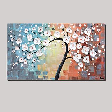 Pintura a Óleo Pintados à mão - Vida Imóvel / Floral / Botânico Pastoril / Modern Tela de pintura