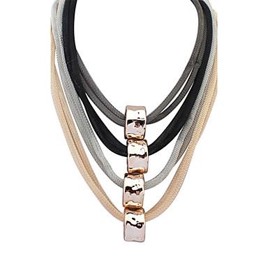 Damen Niedlich Party Freizeit Modisch Europäisch Mehrlagig Halsketten Harz Aleación Halsketten . Niedlich Party Freizeit Modisch