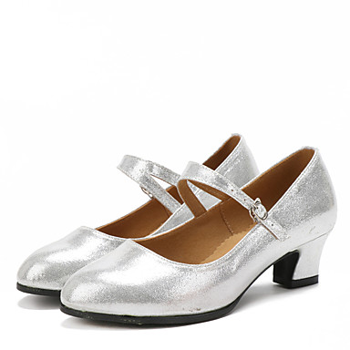 Women's Dance Shoes Latin Suede / Sparkling Glitter Black / Synthetic Cuban Heel Black Glitter / Red / Silver / Gold 9cc3b2