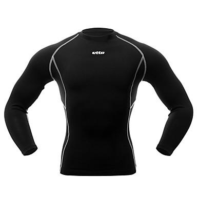 Homme Tee-shirt de Course Compression Vêtements de Compression/Sous maillot Bas pour Exercice & Fitness Course/Running Serré M L XL
