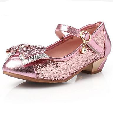 Lány Cipő Szintetikus Glitter Tavasz Nyár Ősz Kényelmes Világító cipők Magassarkúak Alacsony Kristály Flitter Átlátszó ragasztószalag mert