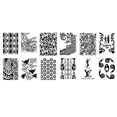 1 pcs Placa de Carimbar Modelo Nail Art Design Design Moderno Estiloso / Fashion Diário / Plástico