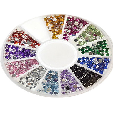 1 pcs Brillante Joyas de Uñas Brillantes Encantador arte de uñas Manicura pedicura Abstracto / Dibujos / Boda / Acrílico / Joyería de uñas