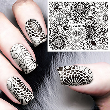 1 pcs Adesivo de transferência de água arte de unha Manicure e pedicure Fashion Diário