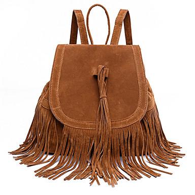 Damen Taschen Jeansstoff Rucksack Quaste für Einkauf Normal Ganzjährig Schwarz Braun