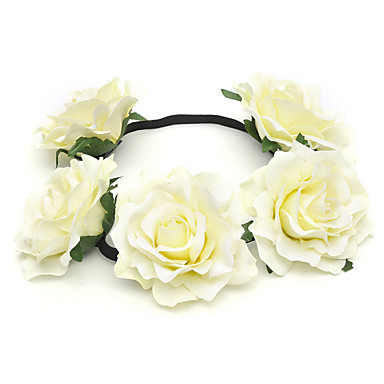 נשים נערת פרחים בד כיסוי ראש-חתונה אירוע מיוחד קז'ואל חוץ זרי פרחים חלק 1