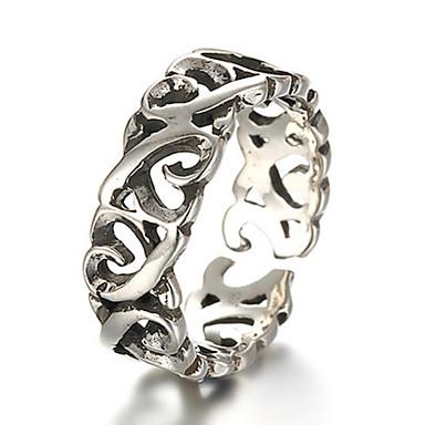 בגדי ריקוד גברים בגדי ריקוד נשים טבעת הטבעת וינטאג' מסיבה אהבה לב אופנתי מתכווננת כסף סטרלינג כסוף לב תכשיטי תלבושות יומי קזו'אל