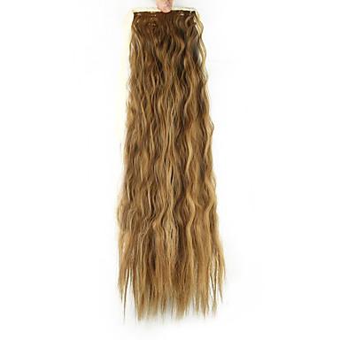 Coletas Pelo sintético Pedazo de cabello La extensión del pelo Ondulado Medio