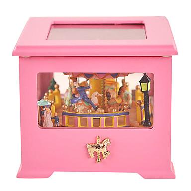 Holz gelb / mehrfarbig kreative romantische Musik-Box für Geschenk