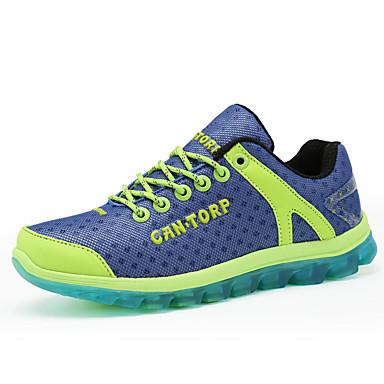Les chaussures de course des femmes tulle plates espadrilles de mode de confort du talon extérieur jaune / vert / violet
