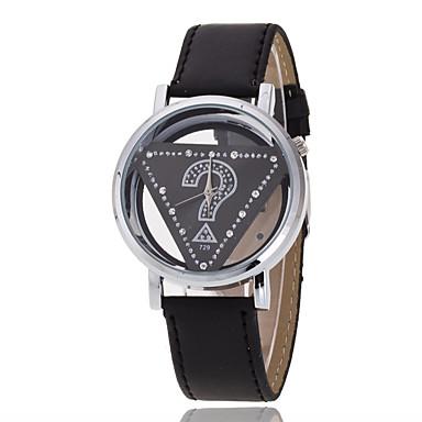 Herren Armbanduhr Quartz Armbanduhren für den Alltag Leder Band Schwarz Braun Weiß Schwarz Rot