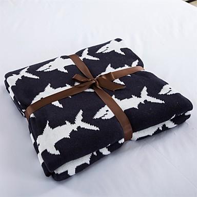 Strick,Garnfärbung Solide 100% Baumwolle Decken