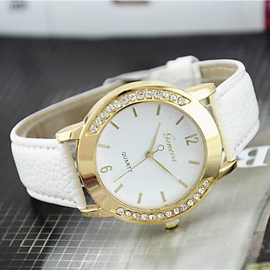Mulheres Relógio de Pulso imitação de diamante Couro Banda Amuleto / Casual / Fashion Preta / Branco / Azul / Um ano / Tianqiu 377