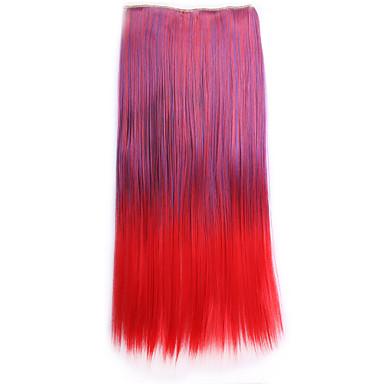 ombre 55cm sintetico Perruque rett naturlig hår parykk drakt syntetisk hår klippet i hair extensions pad