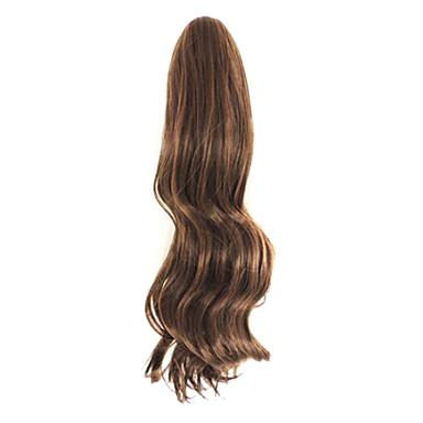 brun 50cm lengde Han utgaven av den nye kvinnelige krøllete hår klo (lys brun)