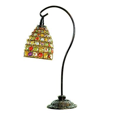 kreative hjem hånd-beaded vintage europeisk stil jern dekorative nightbordlampe
