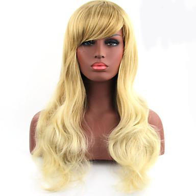 Syntetisk hår Parykker Bølget Lokkløs Medium
