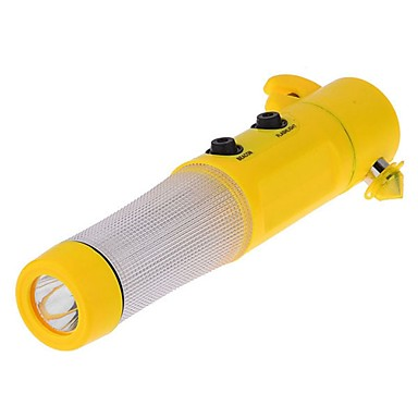 ziqiao Auto Sicherheitshammer LED-Taschenlampe Gurtschneider Glasbrecher Auto rescure Werkzeug