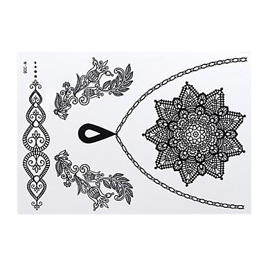 Stencils de Tatuagem Temporária--Tatuagens Adesivas Feminino Adulto- dePapel--