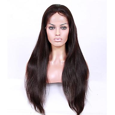 Unbehandeltes Haar Maschinell gefertigt / U-Teil / Ohne Klebstoff und volle Spitze Perücke Brasilianisches Haar Glatt Perücke 130% / 150% / 180% Mit Babyhaar / Natürlicher Haaransatz / Vollspitze