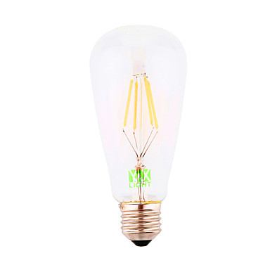 E26/E27 LED-glødepærer ST64 4 leds COB Dekorativ Kjølig hvit 300-400lm 6000-6500K AC 220-240V