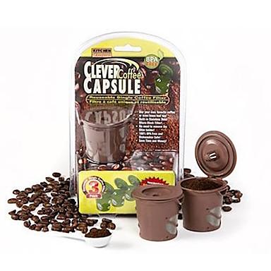 3pcs / set 2016 Kaffeekapsel Teekanne Stücke cleveren Kaffeekapsel wiederverwendbare Einzelfilterkorb