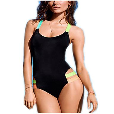 kvinners fargeskulderstropper hengende stykke grime bikini badedrakt