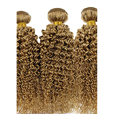 Brazilian Hair Curly Weave Curly Human Hair Weaves 3 Pieces 0.3
