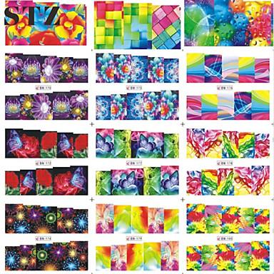 Nail Art prego etiqueta Pontas de Unha Completa / Decalques de transferência de água / Jóias de Unhas