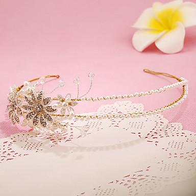 Damen Blumenmädchen Strass Legierung Künstliche Perle Kopfschmuck-Hochzeit Besondere Anlässe Stirnbänder 1 Stück