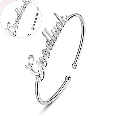 Herren / Unisex / Paar / Damen Armbänder Personalisiert / Runde Armreifen Silber / Platin Ohne Stein