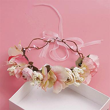 Damen Blumenmädchen Stoff Kopfschmuck-Hochzeit Besondere Anlässe Freizeit im Freien Kränze 1 Stück