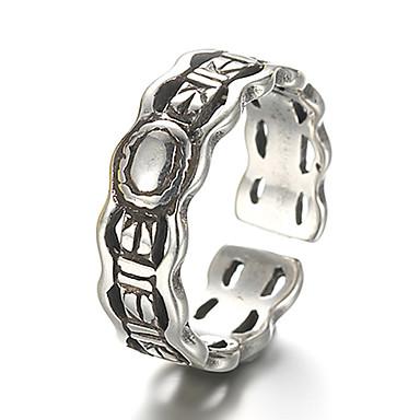 Ringe Vintage / Punkstil Alltag / Normal Schmuck Sterling Silber Bandringe 1 Stück,Verstellbar Silber