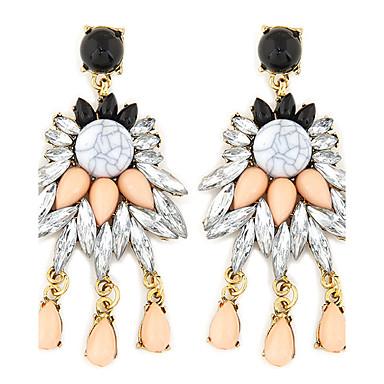 Damen Tropfen-Ohrringe - Harz Luxus, Retro, Europäisch Weiß Für Hochzeit Party Alltag